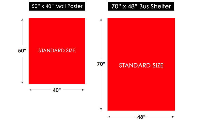 Bus shelter size movie posters